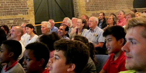 audience at the launch